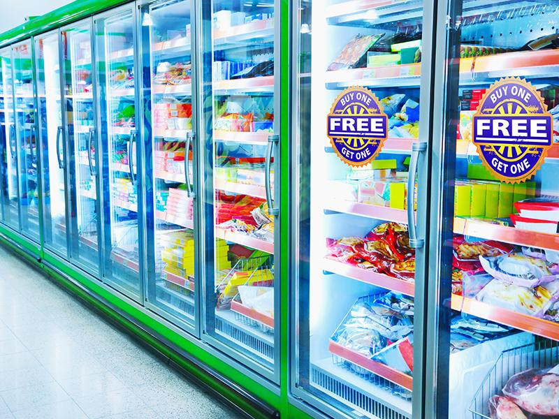 Retail fridge labelling