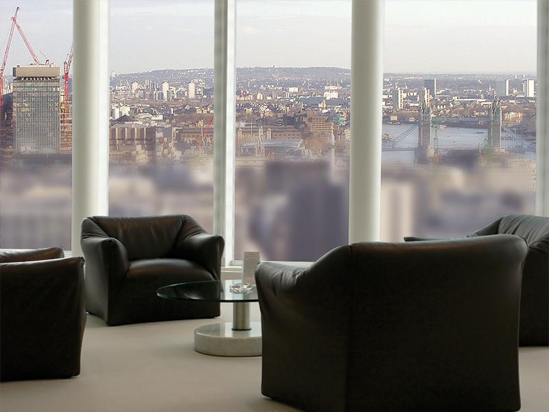 Privacy Vision Control window films lumisty LINTEC europe satinato interior design