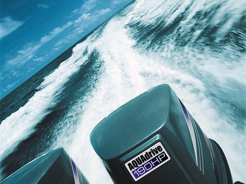 Label on boat engine