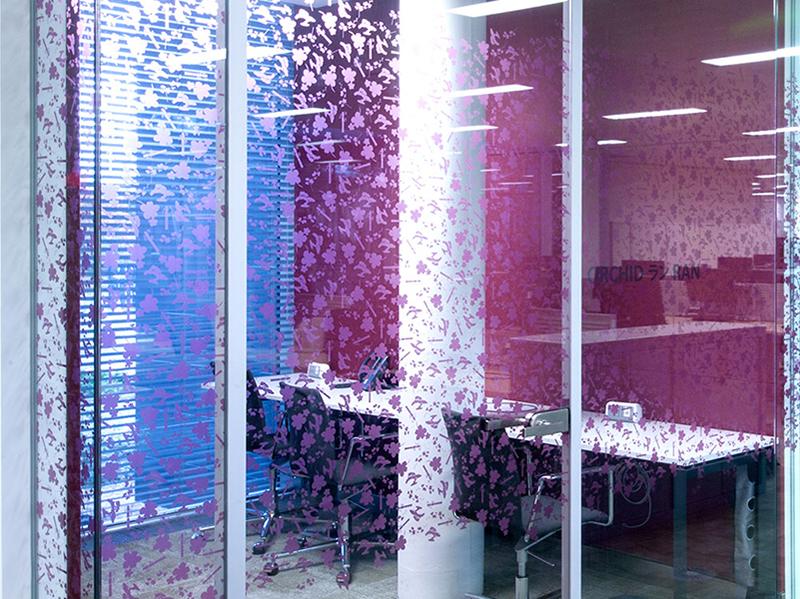 LINTEC Architectural printable films for glass decoration